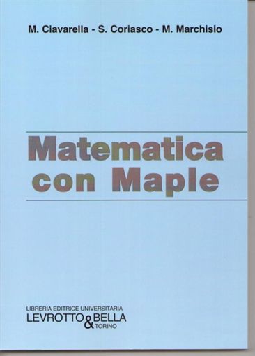 Picture of MATEMATICA CON MAPLE