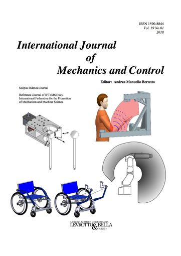 Picture of INTERNATIONAL JOURNAL OF MECHANICS AND CONTROL VOL.19 N. 1 2018